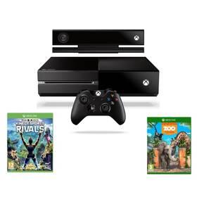 Microsoft Xbox One 500 GB + Kinect + Sports Rivals + Zoo Tycoon (7UV-00257) černá + Doprava zdarma
