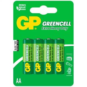 Baterie zinkochloridová GP Greencell AA, R06, blistr 4ks (GP 15G)