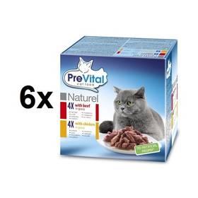 PreVital NATUREL dušené filetky hovězí + kuřecí 6 x (8 x 85g)
