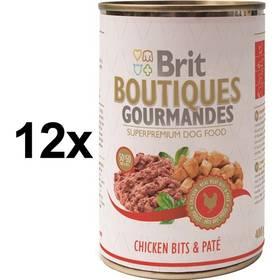 Brit Boutiques Gourmandes Chicken Bits&Paté 12 x 400g