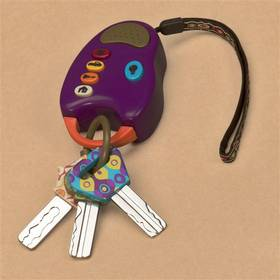 Hudobná hračka B-toys klíčky k autu FunKeys