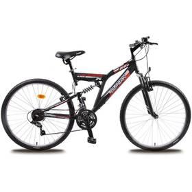 """Horský bicykel Olpran Austin 26"""" s bezpečnostnými prvkami čierny/červený"""