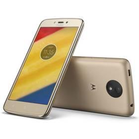 Motorola Moto C Plus Dual SIM (PA800124CZ) zlatý SIM s kreditem T-Mobile 200Kč Twist Online Internet (zdarma) + Doprava zdarma