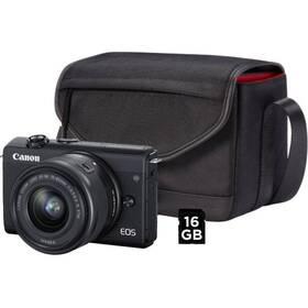 Canon EOS M200 + EF-M 15-45 IS STM + SB130 + 16 GB karta (3699C040) černý