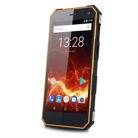 myPhone HAMMER ENERGY 3G Dual SIM (TELMYAHENER3GOR) černý/oranžový SIM s kreditem T-Mobile 200Kč Twist Online Internet (zdarma)