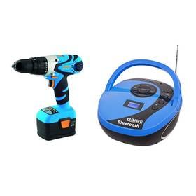 Set aku vrtačka Narex ASP 18-2A, 2 aku + kompaktní rádio/audio přehrávač ZDARMA + Doprava zdarma