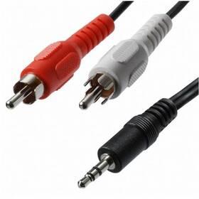 AQ Audio 3,5 mm jack  na 2x RCA konektor, M/M, 5 m (xaqca42050)