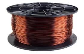 Tlačová struna (filament) Plasty Mladeč 1,75 PETG, 1 kg (F175PETG_TBR) hnedá/priehľadná