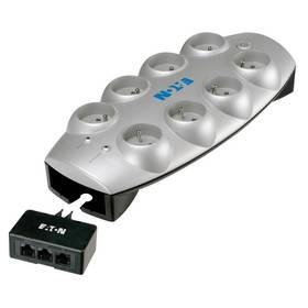 Eaton Protection Box Tel+TV, 8x zásuvka 1,8m strieborná