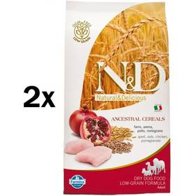 N&D Low Grain DOG Adult Maxi Chicken & Pomegranat 2 x 12 kg + Doprava zdarma