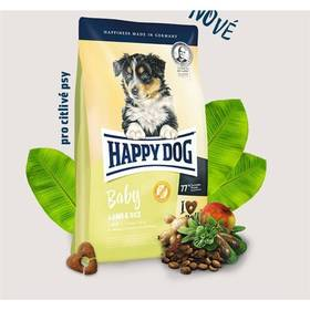 HAPPY DOG Baby Lamb & Rice 10 kg Konzerva HAPPY DOG Rind Pur - 100% hovězí maso 200 g (zdarma) + Doprava zdarma