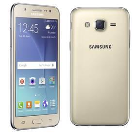 Samsung Galaxy J5 Dual SIM (SM-J500F) (SM-J500FZDDETL) zlatý + Voucher na skin Skinzone pro Mobil CZ v hodnotě 399 Kč jako dárek + Doprava zdarma