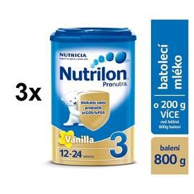 Nutrilon 3 Pronutra Vanilka, 800g x 3ks + Doprava zdarma