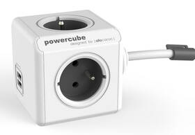Powercube Extended USB, 4x zásuvka, 2x USB, 3m biely