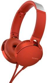 Sony MDR-XB550AP Extra Bass™ (MDRXB550APR.CE7) červená + Doprava zdarma