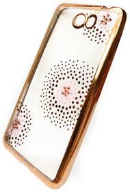 Beeyo Flower Dots pro Huawei Y6 II Compact (BEAHUY6IICTPUFLGO) zlatý + Doprava zdarma