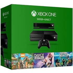 Microsoft Xbox One 500GB Kinect + Dance Central Spotlight + Kinect Sports Rivals + Zoo Tycoon (6QZ-00082)