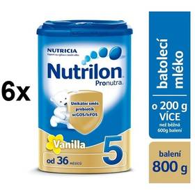 Nutrilon 5 Pronutra Vanilka, 800g x 6ks