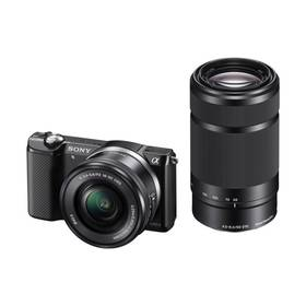Sony Alpha A5000 + 16-50mm + 55-210mm (370090) černý + Doprava zdarma