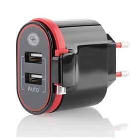 GoGEN ACH202C, 2xUSB, 2,4A, integrovaný Micro USB kabel (ACH202C)