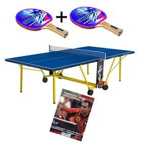 Stůl na stolní tenis Giant Dragon Power 800 + 2x Pálka na stolní tenis + Naučný DVD film Trénuj jako Petr Korbel díl – II + Doprava zdarma
