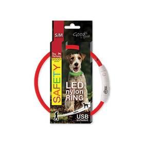 Dog Fantasy LED nylonový S/M červený
