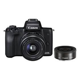 Canon EOS M50 + EF-M15-45 + EF-M22 (2680C032) černý