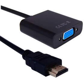GoGEN HDMI/VGA, 0,2m (HDMIVGAMF01) černá