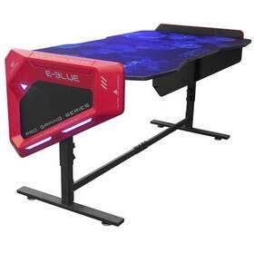 E-Blue 165x88 cm, RGB podsvícení, výškově nastavitelný, s podložkou pod myš (EGT003BKAA-IA) čierny/červený