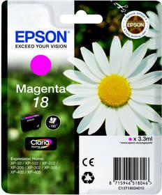 Epson T1803, 180 stran - originální (C13T18034010) červená