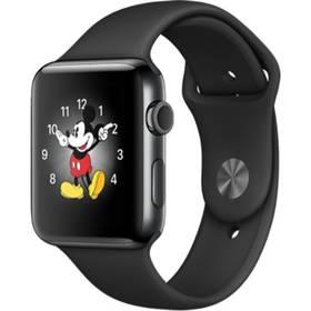 Apple Watch Series 2 42mm pouzdro z vesmírně černé nerezové oceli – černý sportovní řemínek (MP4A2CN/A) + Doprava zdarma