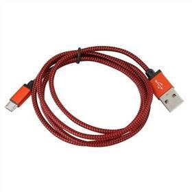 PLATINET USB/micro USB, 1m (PUCFB1-RD) červený