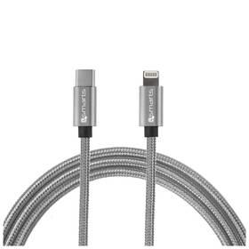 4smarts USB-C / Lightning, 1m (MP465532) šedý (vrácené zboží 8800469979)