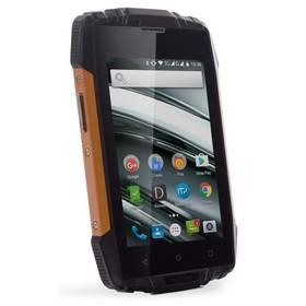 myPhone HAMMER IRON 2 Dual SIM (TELMYAHIRON2OR) černý/oranžový SIM s kreditem T-mobile 200Kč Twist Online Internet (zdarma) + Doprava zdarma