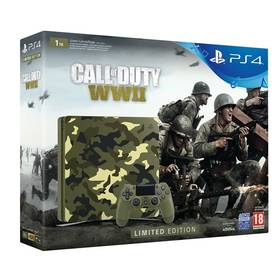 Sony PlayStation 4 SLIM 1TB + Call of Duty WW II + That's You - kamufláž (PS719943167) + Doprava zdarma