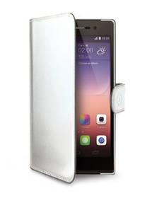 Puzdro na mobil flipové Celly WALLY pro Huawei P8 (WALLY505WH) biele (poškodený obal 8616006749)