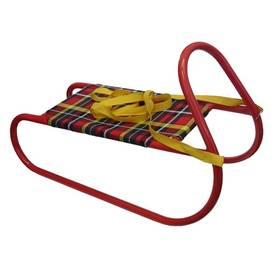 Acra Dětské kovové červené + Reflexní sada 2 SportTeam (pásek, přívěsek, samolepky) - zelené v hodnotě 58 Kč