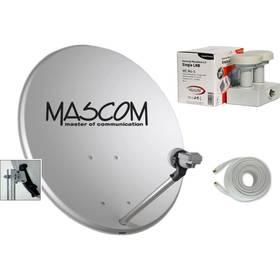 Mascom OP-VJ2 + LNB monoblock + kábel koax sivá