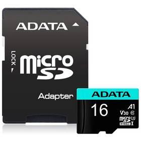 ADATA Premier Pro Micro SDHC 16GB UHS-I U3 (95R/30W) + adaptér (AUSDH16GUI3V30S-RA1)