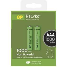 GP ReCyko+ AAA, HR03, 1000mAh, Ni-MH, krabička 2ks (1032112080) zelená