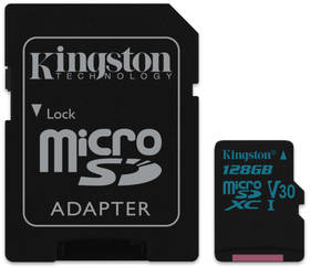 Kingston Canvas Go! MicroSDXC 128GB UHS-I U3 (90R/45W) + adapter (SDCG2/128GB)