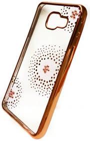 Beeyo Flower Dots pro Samsung Galaxy A3 (2016) (BEASAGAA32016TPUFLGO) zlatý