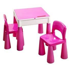 Cosing MAMUT plastový stoleček a 2 židličky růžový + Doprava zdarma