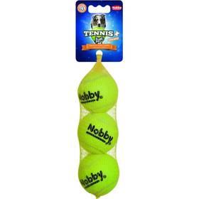 Nobby tenisová loptička M pískátko 6,5 cm 3 ks