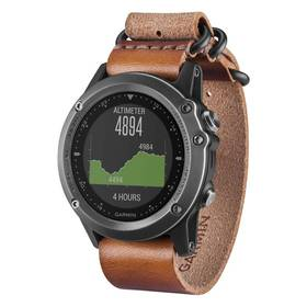 Garmin fenix 3 Sapphire (Gray and Leather) (010-01338-81) šedé + Doprava zdarma