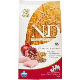 N&D Low Grain DOG Adult Chicken & Pomegranate 12 kg + Plastový kontejner na granule N&D Farmina v hodnotě 839 Kč + Doprava zdarma
