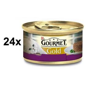 Gourmet Gold Savoury Cake s jehněčím a zelenými fazolkami 24 x 85g