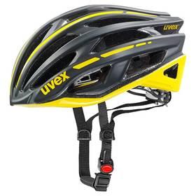 Uvex Race 5, vel. 55-58cm černá/žlutá + Doprava zdarma