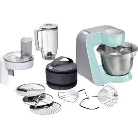 Bosch CreationLine MUM58020 stříbrný/tyrkysový + K nákupu poukaz v hodnotě 1 000 Kč na další nákup + Doprava zdarma