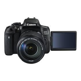 Canon EOS 750D + 18-135 STM (0592C032) černý + cashback + Doprava zdarma